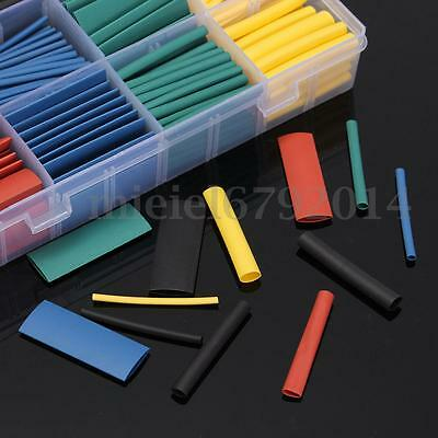 530Pcs 2:1 Assorted Car Electrical Cable Heat Shrink Tube Tubing Wrap Sleeve Kit