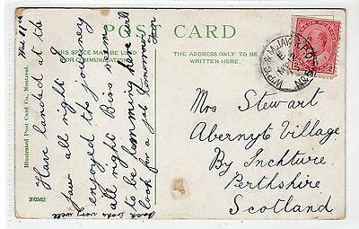 Canadian picture postcard with W'P'G & M.JAW R.P.O. postmark (C20964)