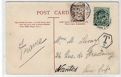 Underpaid picture postcard with French postage due stamp (C20978)