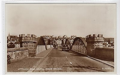 APPROACH FROM SOUTH, BONAR BRIDGE: Sutherland postcard (C20688)
