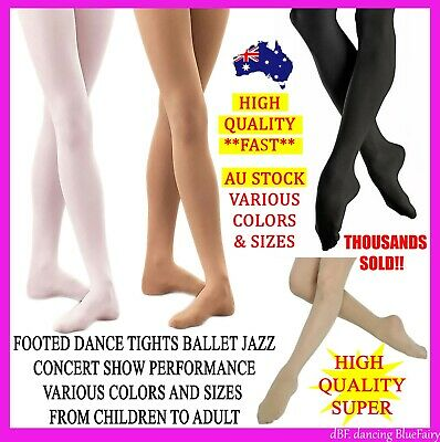 3X Foot Footed Tights Dance Stockings Ballet Pantyhose Size Children Adult Color