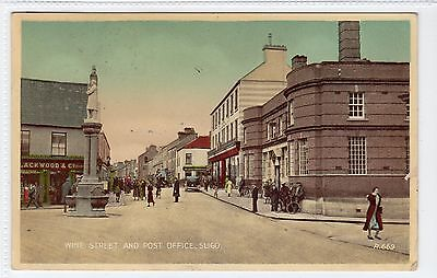 WINE STREET AND POST OFFICE, SLIGO: Sligo Ireland postcard (C20329)