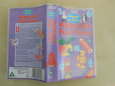 ALPHABET FUN TIME BBC Words and Educational VHS Video