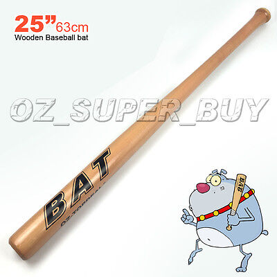 "Wood Baseball Bat 25""/63cm AU STOCK"