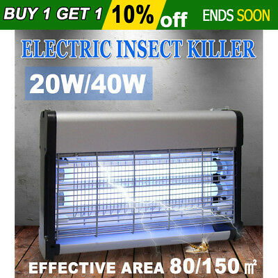20W/40W Electric Insect Killer Mosquito Pest Fly Bug Zapper Catcher Trap UV Lamp