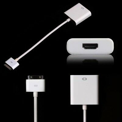 HDTV TV Adapter Cable Dock to HDMI Adaptor Converter for iPhone 4 4S iPad 2