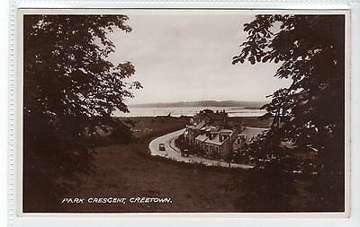 PARK CRESCENT, CREETOWN: Kirkcudbrightshire postcard (C20848)