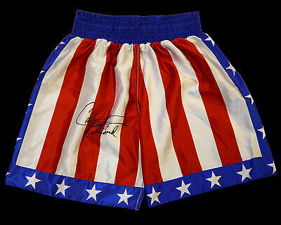 Carl Weathers ' Rocky' Signed Replica Custom Made Boxing Trunks: Apollo Creed: A