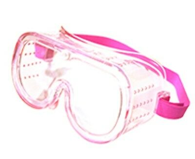 Pink Small Eye Protection Protective Lab Clear Goggles Glasses Safety Women Kids