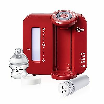 Tommee Tippee Closer to Nature Perfect Prep Machine - Red NEW