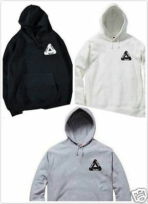 New Palace Thick Print Hooded Outwear Cotton Pocket Pullover Fleece Sweatshirt #