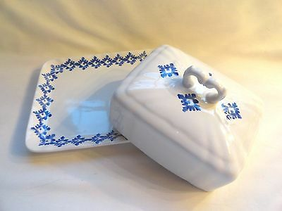 Ralph Lauren Blue And White Covered Cheese Dish - Perfect Condition