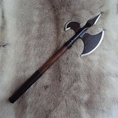 Medieval / Viking Hand Crafted Axe Perfect For Stage & Costume Or Re-enactment.