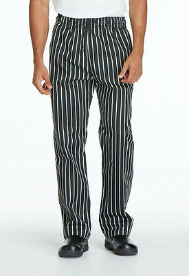 Dickies Unisex Traditional Baggy Chef PantStripe Black / White DC11