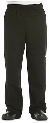 Dickies Unisex Double Knee Baggy Chef Pant Black DC15