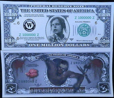 Walking Dead FREE SHIPPING! TWO DIFFERENT kind of novelty bills