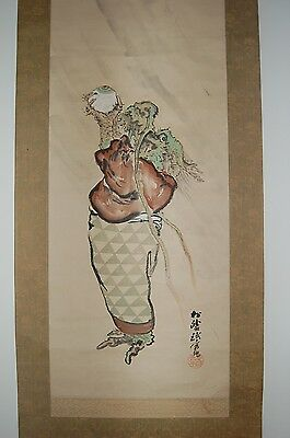 Hanging scroll painting, dragon offering jewel, Shoto, Japan