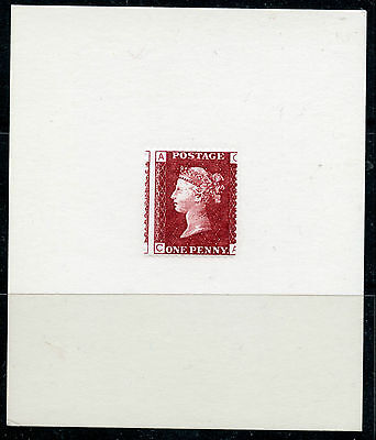 Weeda Great Britain 33 Penny Red Facsimile Die Proof Reproduction