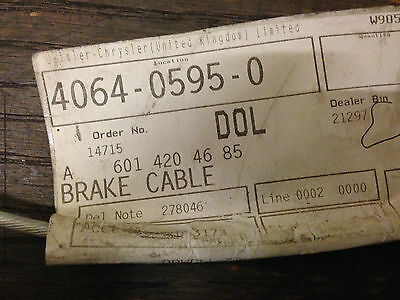 Mercedes Bus Coach Van  T1 Hand Brake Cable Left A6014204685