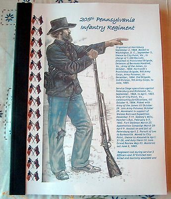 Civil War History of the 205th Pennsylvania Infantry Regiment