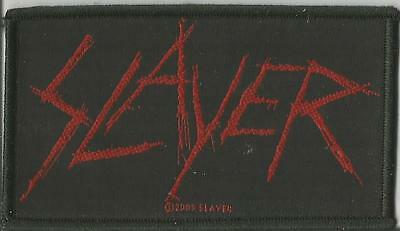 SLAYER Scratched Logo Woven Patch Sew On Official Band Merch