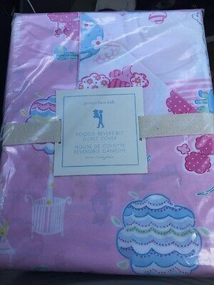 Pottery Barn Kids Poodle Dog Duvet Cover Twin Pink NWT
