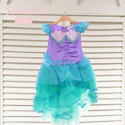 !!Clearance!!! Girl Disney The Little Mermaid Ariel Costume dress Size 2-7 Years