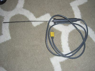 Fluke 80PK-2A Immersion k-type Thermocouple Temperature Probe **TESTED to 170C**