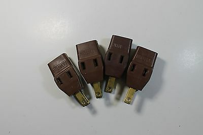 *Bulk* (4) Vintage Rubber Leviton Power Taps in Brown (IPWRX8)