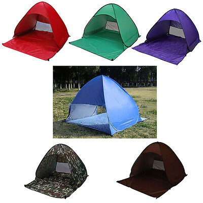 Outdoor Camping 3 Man Tents Anti UV Pop Up  Beach Automatic Tent Family Tents