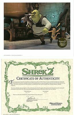 SHREK 2 Limited Edition Lithograph - with C of A