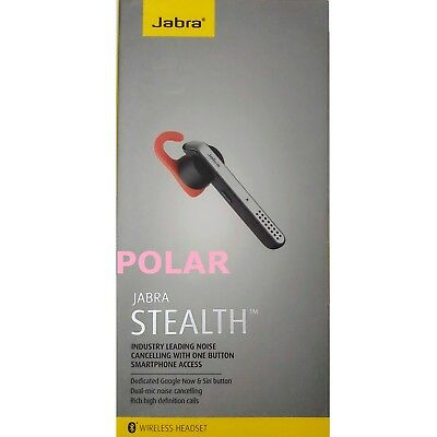 68191828eed JABRA STEALTH WIRELESS Bluetooth Headset Silver - $57.99 | PicClick