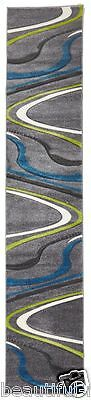 Hallway Runner Rug Grey Blue Green Hall Carpet Mat 3 Meters Long FREE DELIVERY*