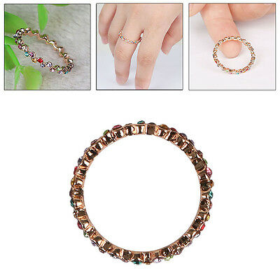 WOMEN Fashion Jewelry Charm CZ 18K Rose Gold Filled Crystal Ring