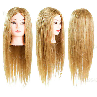 80% Real Hair Blonde Cosmetology Mannequin Head Training head Hair Styling