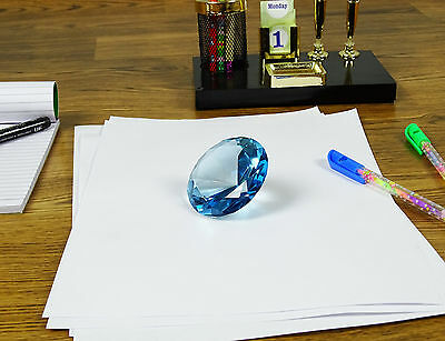 Diamond Cut Glass Stone Paper Weight Wedding Favor Giant Collectible Gift 40 mm