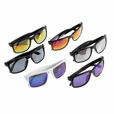 Chopper Wind Resistant Sunglasses Sports Motorcycle Riding reflective Glasses HC