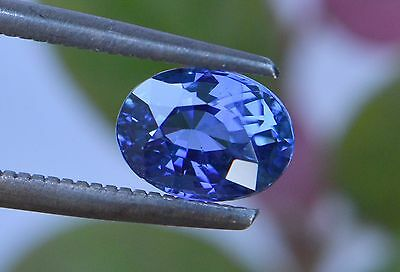 1.83 Cts Certified Natural Unheated Oval Cut Ceylon Blue Sapphire Gemstone