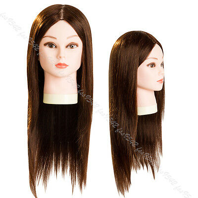 """90% Long Hair Cosmetology Mannequin Head 22"""" For Hair styling"""