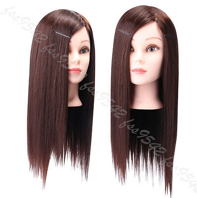"""75% Real Hair Hairdressing Training Head 22"""" Cosmetology Mannequin Head"""