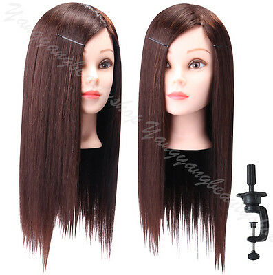 """90% Real Hair Hairdresser Practise Head 22"""" Cosmetology Mannequin Head"""