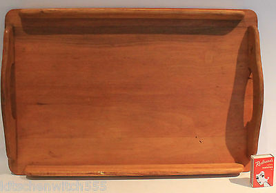 Vintage Wooden Tray Wood Timber Hand Made Rectangle 1950s