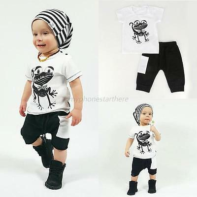 Infant Baby Kids Clothes T-shirt Tops+Shorts Pants Toddler Boys Outfits Set NEW