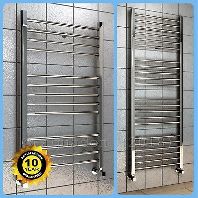 Bathroom Heated Towel Radiator Chrome Straight Ladder Rail Rad ( ALL SIZES )
