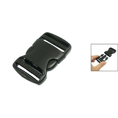 "1 1/2"" Replacement Belt Connecting Black Plastic Quick Release Buckle SH"