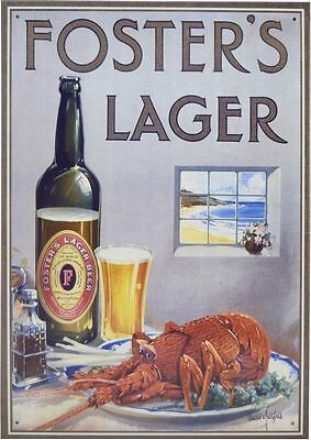 Tin Sign - Fosters Beer Crayfish