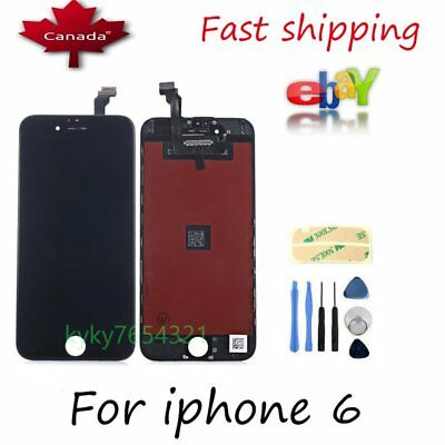 "Touch Screen Display Digitizer Assembly Replacement For IPhone 6 4.7"" Black"