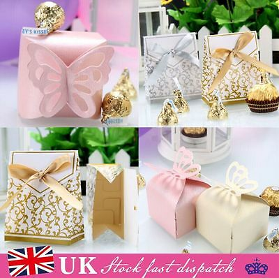 100pcs Wedding Engagement Party Cake Candy Favour Favors Gift Boxes