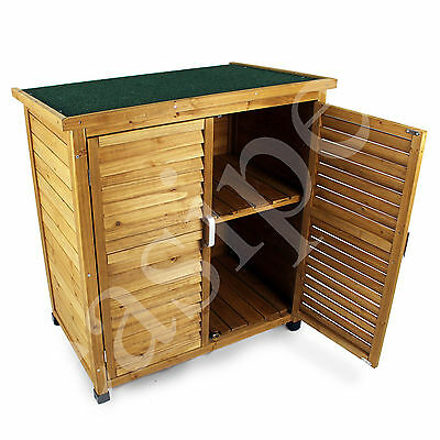 Wooden Garden Outdoor Store Cupboard Shed Lawn Mower Tool Storage Cabinet 824