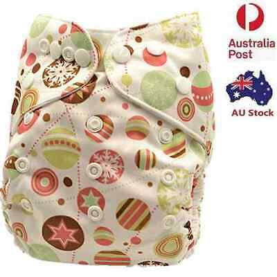 Washable Adjustable Reusable Waterproof Modern Cloth Nappy Nappies Diaper (D108)